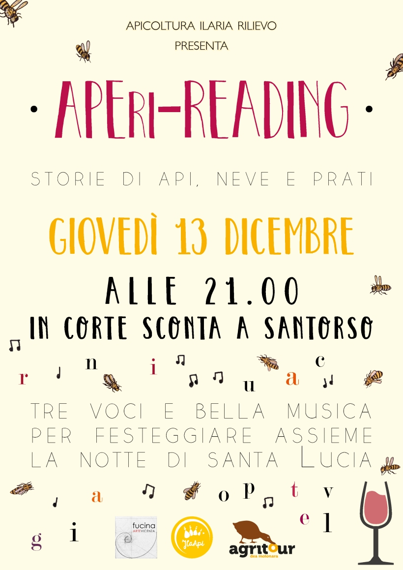APERI READING in Corte Sconta a Santorso 13 dicembre 2018